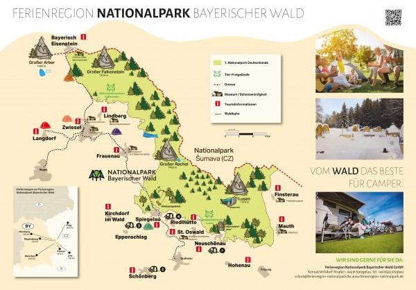 Campingkarte Übersicht - Ferienregion Nationalpark Bayerischer Wald