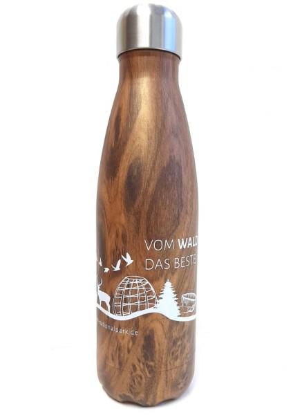 Isolierflasche, Holzoptik